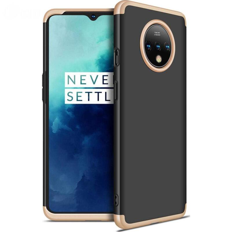Husa OnePlus 7T GKK 360 Full Cover Negru-Auriu
