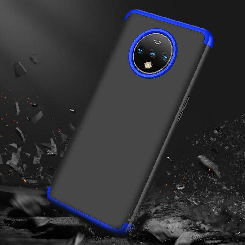 Husa OnePlus 7T GKK 360 Full Cover Negru-Albastru