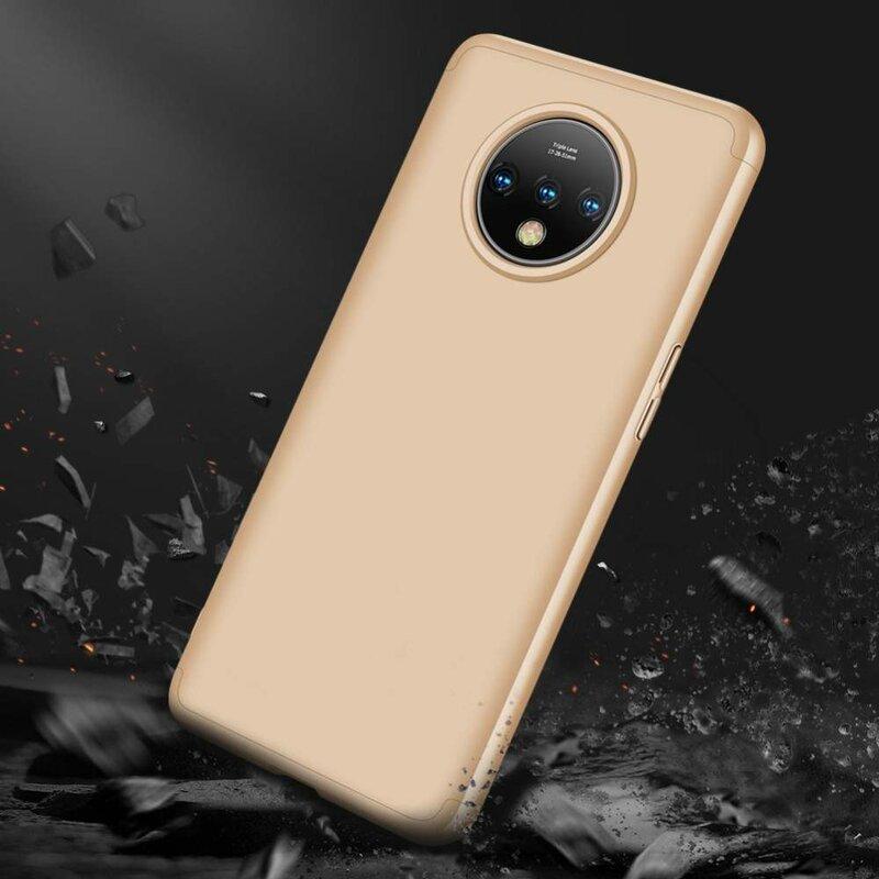 Husa OnePlus 7T GKK 360 Full Cover Auriu