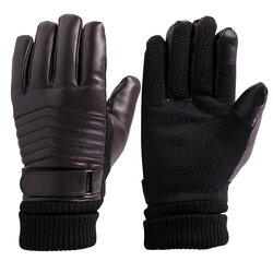 Manusi Touchscreen Barbati Keep Warm Leather - Marimea XL - Maro