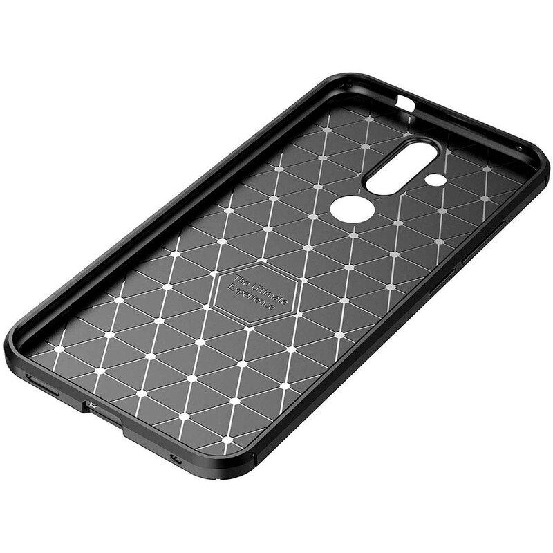 Husa Nokia X71 Carbon Skin - Negru