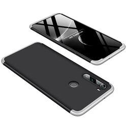Husa Xiaomi Redmi Note 8 GKK 360 Full Cover Negru-Argintiu