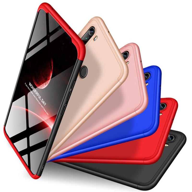 Husa Xiaomi Redmi Note 8 GKK 360 Full Cover Negru-Rosu
