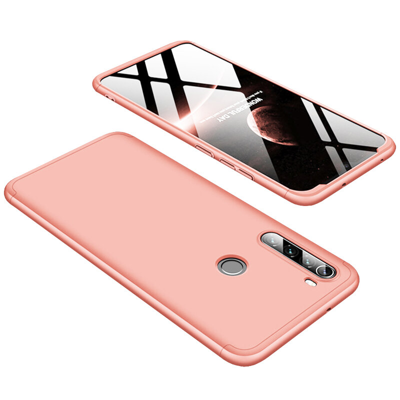 Husa Xiaomi Redmi Note 8 GKK 360 Full Cover Roz