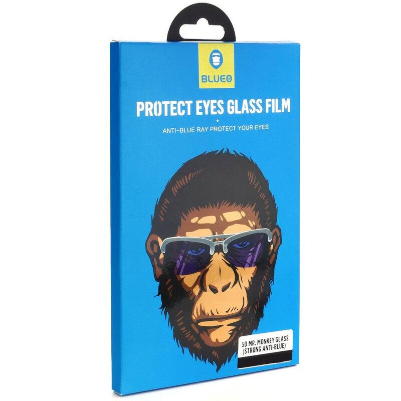 Folie Sticla iPhone 11 Pro Max Blueo 5D Mr. Monkey Strong Anti-Blue - Negru