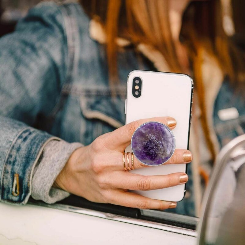 Popsockets Original, Suport Cu Functii Multiple - Genuine Amethyst