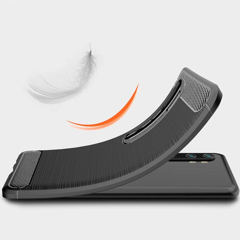 Husa Xiaomi Mi CC9 Pro TPU Carbon - Negru
