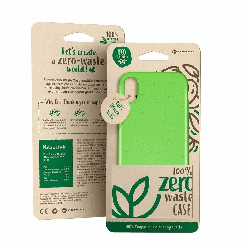 Husa iPhone 11 Forcell Bio Zero Waste Eco Friendly - Verde