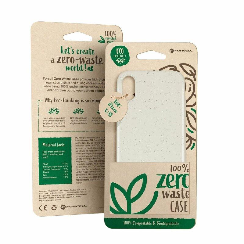 Husa iPhone 11 Pro Max Forcell Bio Zero Waste Eco Friendly - Alb