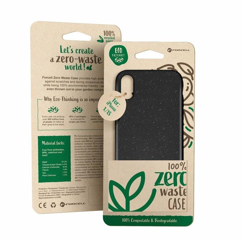 Husa iPhone 11 Pro Max Forcell Bio Zero Waste Eco Friendly - Negru
