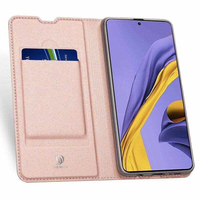 Husa Samsung Galaxy A51 Dux Ducis Flip Stand Book - Roz
