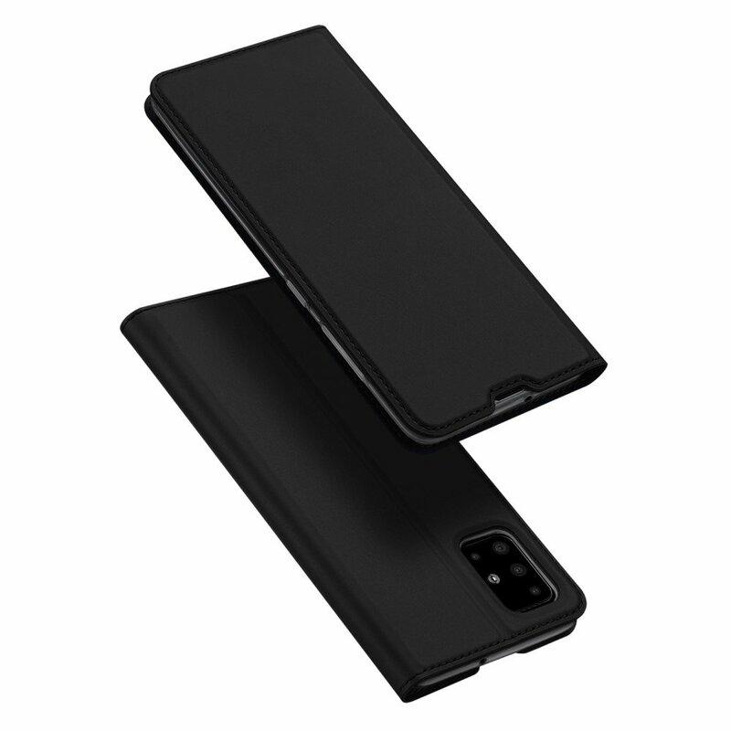 Husa Samsung Galaxy A71 Dux Ducis Flip Stand Book - Negru