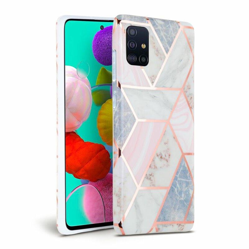 Husa Samsung Galaxy A51 Tech-Protect Marble - Roz