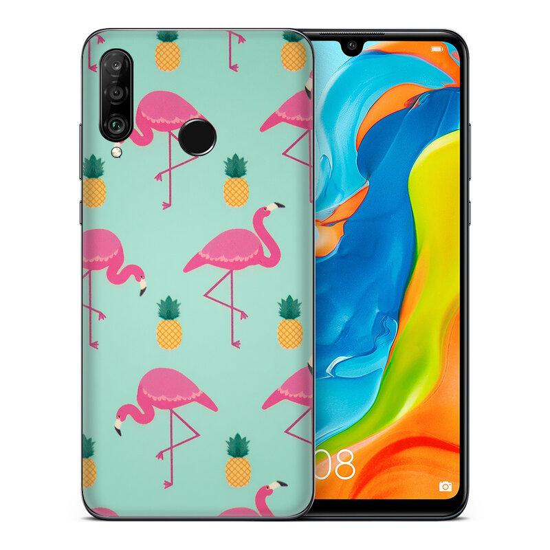 Skin Huawei P30 Lite - Sticker Mobster Autoadeziv Pentru Spate - Flamingo