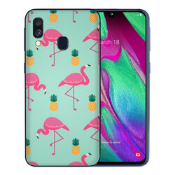 Skin Samsung Galaxy A40 - Sticker Mobster Autoadeziv Pentru Spate - Flamingo