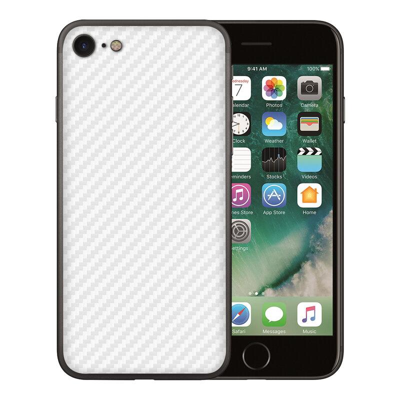 Skin iPhone 7 - Sticker Mobster Autoadeziv Pentru Spate - Carbon White