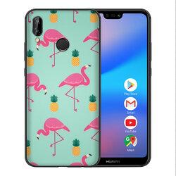 Skin Huawei P20 Lite - Sticker Mobster Autoadeziv Pentru Spate - Flamingo