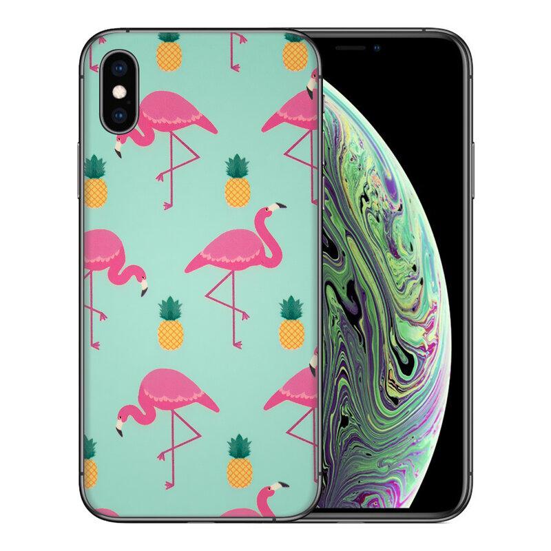 Skin iPhone XS - Sticker Mobster Autoadeziv Pentru Spate - Flamingo