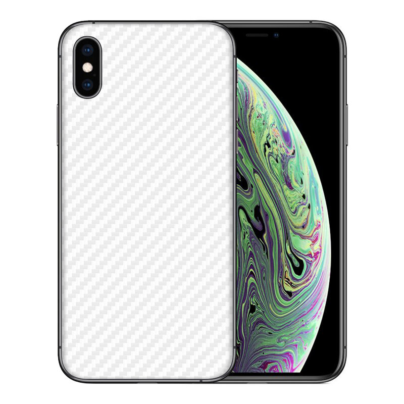 Skin iPhone XS - Sticker Mobster Autoadeziv Pentru Spate - Carbon White