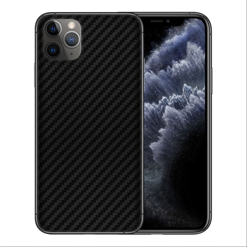 Skin iPhone 11 Pro Max - Sticker Mobster Autoadeziv Pentru Spate - Carbon Black
