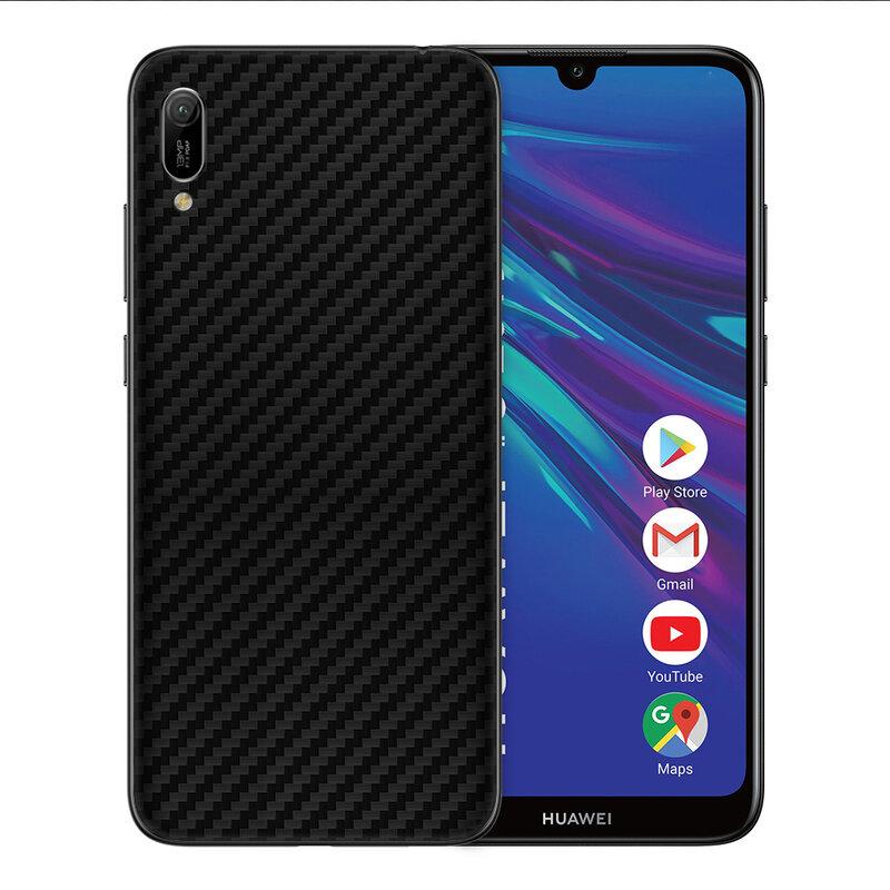Skin Huawei Y6 2019 - Sticker Mobster Autoadeziv Pentru Spate - Carbon Black