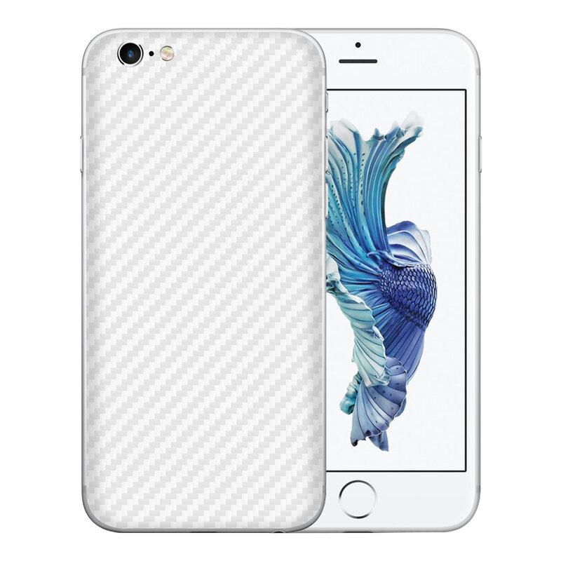 Skin iPhone 6, 6s - Sticker Mobster Autoadeziv Pentru Spate - Carbon White