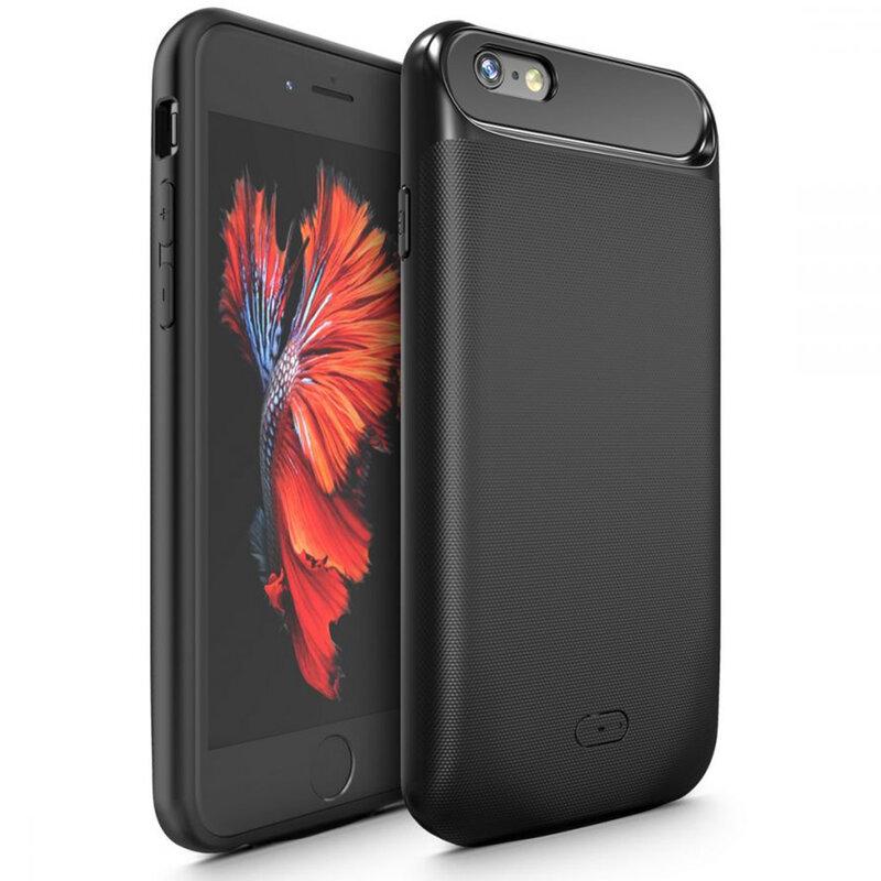 Husa Cu Baterie iPhone 7 Plus Tech-Protect Battery Pack 5000mAh - Negru