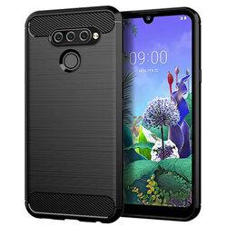 Husa LG Q60 Tech-Protect TPU Carbon - Negru
