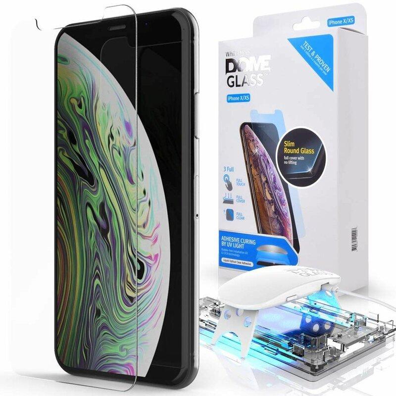 Folie Sticla iPhone XS Whitestone Dome Full Cover Case Friendly Cu Lampa UV - Clear