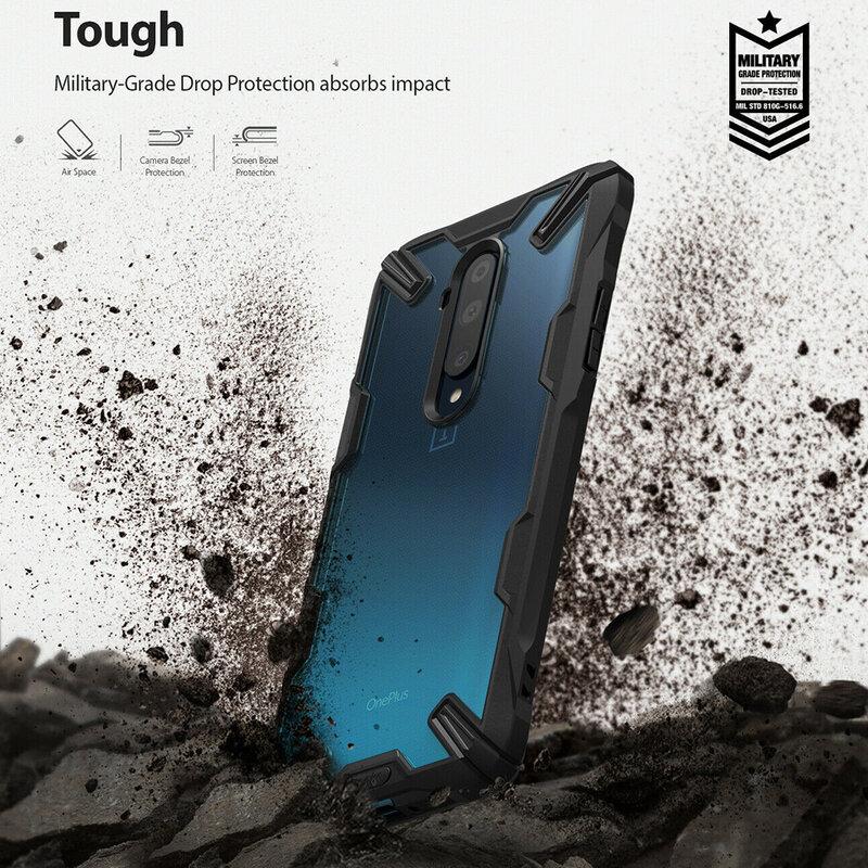 Husa OnePlus 7T Pro Ringke Fusion X - Black