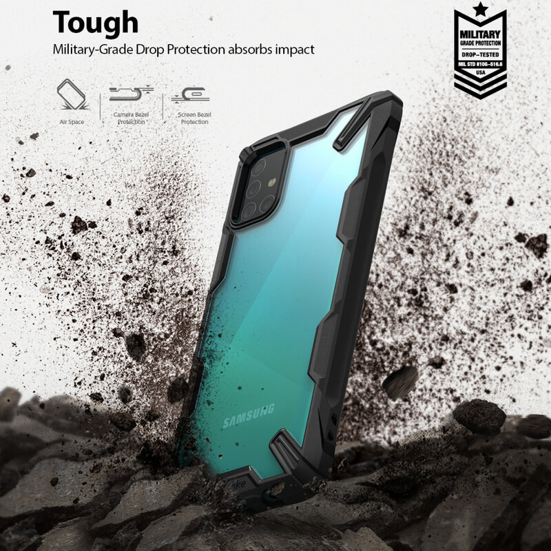 Husa Samsung Galaxy A51 Ringke Fusion X - Black