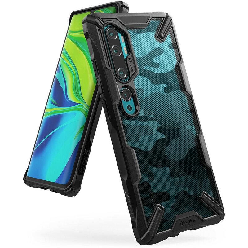 Husa Xiaomi Mi CC9 Pro Ringke Fusion X Design - Camo Black