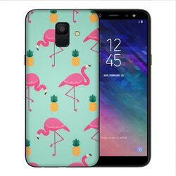 Skin Samsung Galaxy A6 2018 - Sticker Mobster Autoadeziv Pentru Spate - Flamingo