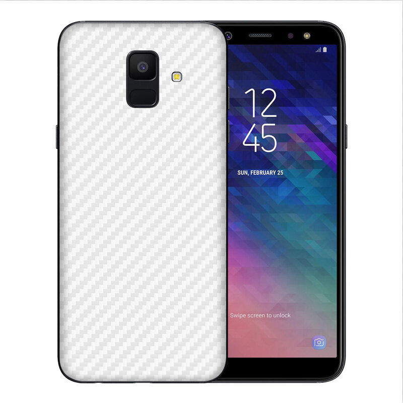 Skin Samsung Galaxy A6 2018 - Sticker Mobster Autoadeziv Pentru Spate - Carbon White
