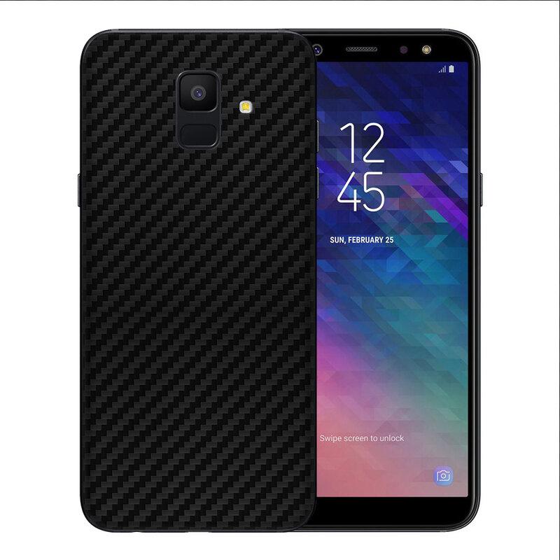 Skin Samsung Galaxy A6 2018 - Sticker Mobster Autoadeziv Pentru Spate - Carbon Black