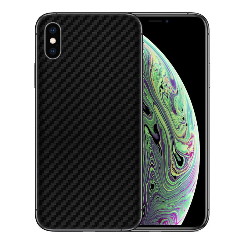 Skin iPhone XS Max - Sticker Mobster Autoadeziv Pentru Spate - Carbon Black