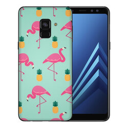 Skin Samsung Galaxy A8 2018 A530 - Sticker Mobster Autoadeziv Pentru Spate - Flamingo