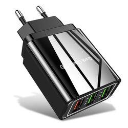 Incarcator Priza Qualcomm Fast 3xUSB 5.1A Quick Charge USB 3.0 - Negru