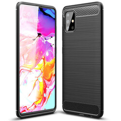 Husa Samsung Galaxy A71 Tech-Protect TPU Carbon - Negru