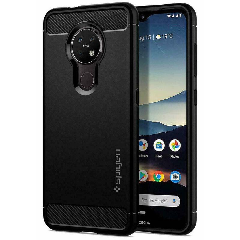 Husa Nokia 6.2 2019 Spigen Rugged Armor - Matte Black