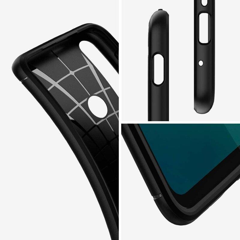 Husa Motorola Moto G8 Plus Spigen Rugged Armor - Matte Black