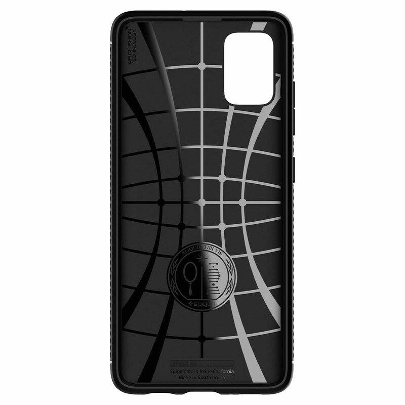 Husa Samsung Galaxy A51 Spigen Rugged Armor - Matte Black