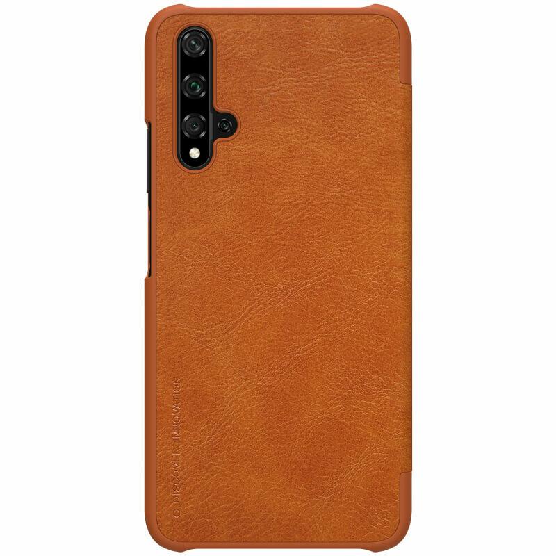 Husa Huawei Nova 5T Nillkin QIN Leather - Maro