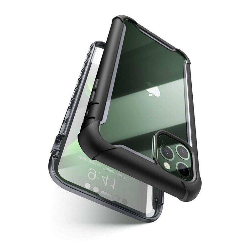 [Pachet 360°]Husa iPhone 11 Pro Supcase i-Blason Ares + Folie Ecran - Negru