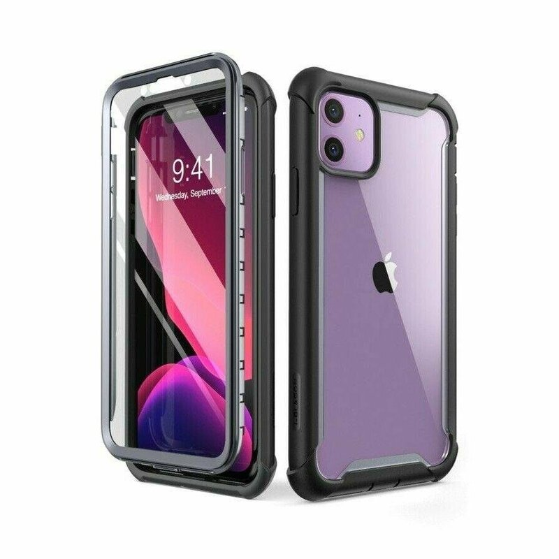 [Pachet 360°]Husa iPhone 11 Supcase i-Blason Ares + Folie Ecran - Negru