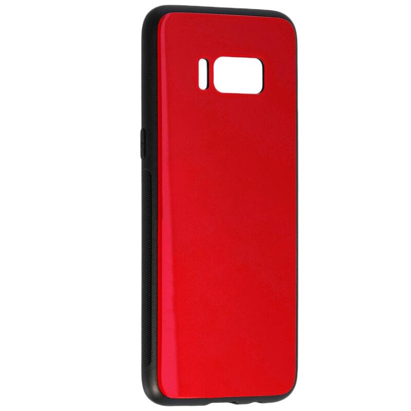 Husa Xiaomi Redmi Note 8T Glass Series - Rosu