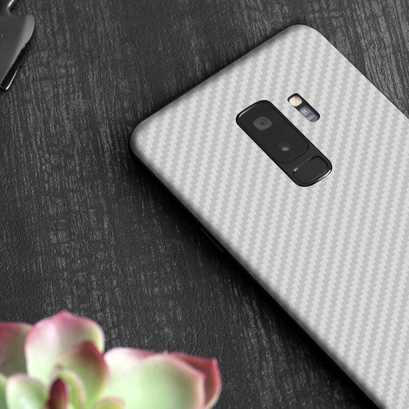Skin Samsung Galaxy S9 - Sticker Mobster Autoadeziv Pentru Spate - Carbon White