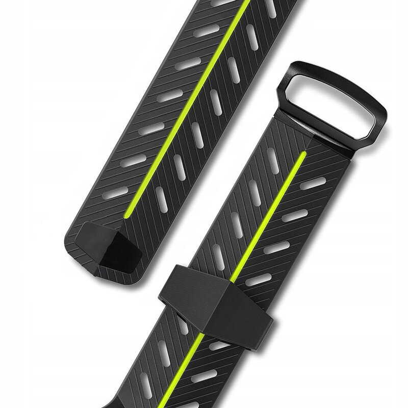 Curea Apple Watch 1 42mm Tech-Protect Action - Negru-Verde