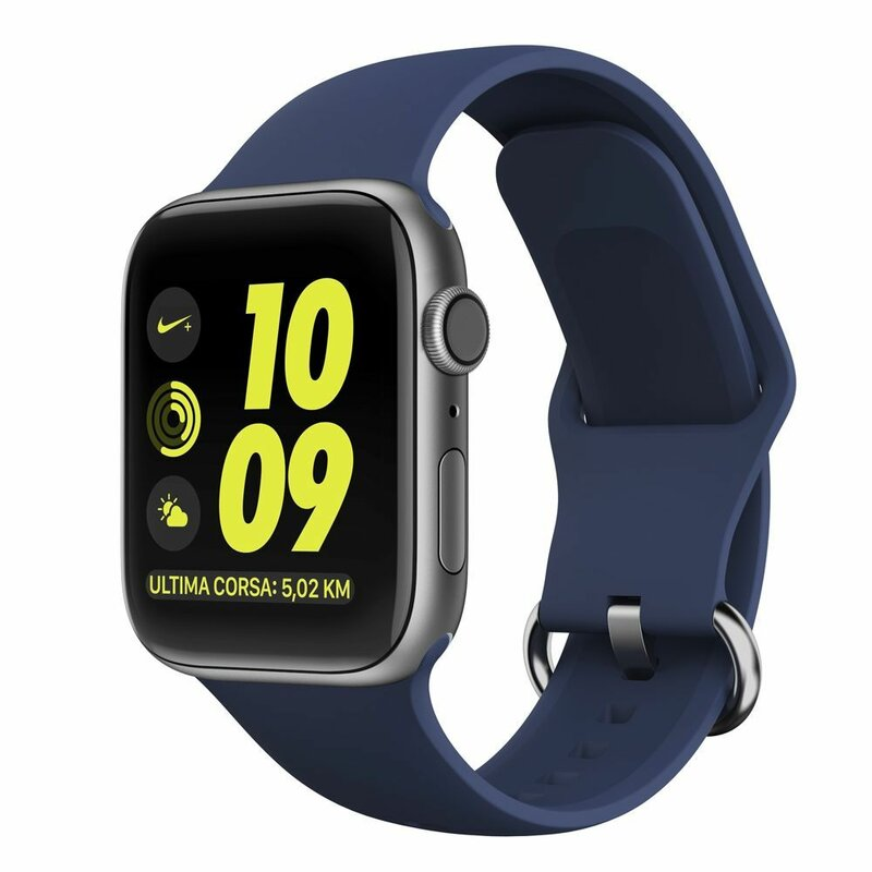 Curea Apple Watch 5 44mm Tech-Protect Gearband - Albastru