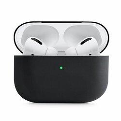 Husa Apple Airpods Pro Tech-Protect Set Din Silicon - Negru